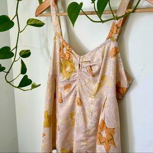 Dries Van Noten Silk Floral Tank Top